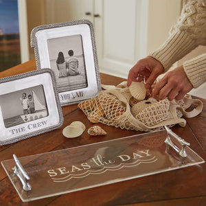 Seas The Day Boat Cleat Handled Acrylic Tray-Serving Trays and More-|-Mariposa