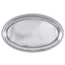 Load image into Gallery viewer, Pearled Large Oval Platter | Mariposa Platters