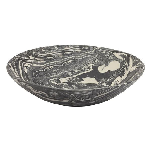 Gray Marble Ceramic Serving Bowl | Mariposa Bowls