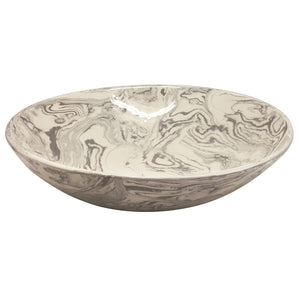 Stone Marble Ceramic Serving Bowl | Mariposa Bowls