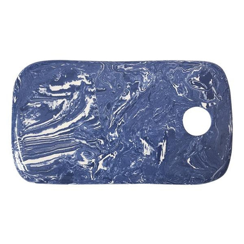 Cobalt Marble Ceramic Cheese Board | Mariposa Serving Trays and More