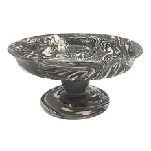 Load image into Gallery viewer, Gray Marble Ceramic Small Cookie Stand | Mariposa Table Accessories