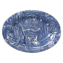 Load image into Gallery viewer, Cobalt Marble Ceramic Oval Platter | Mariposa Platters