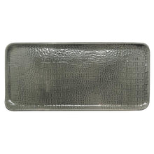 Load image into Gallery viewer, Gray Crocodile Ceramic Rectangular Platter | Mariposa