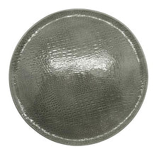 Load image into Gallery viewer, Gray Crocodile Ceramic Round Platter | Mariposa