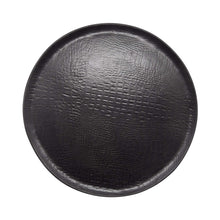 Load image into Gallery viewer, Black Crocodile Ceramic Round Platter | Mariposa