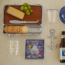 Load image into Gallery viewer, Rope Cheese Board, Dark Wood-Serving Trays and More-|-Mariposa