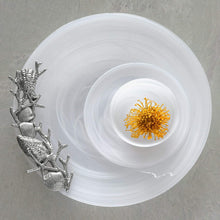 Load image into Gallery viewer, White Alabaster Seaside Platter-Platters-|-Mariposa