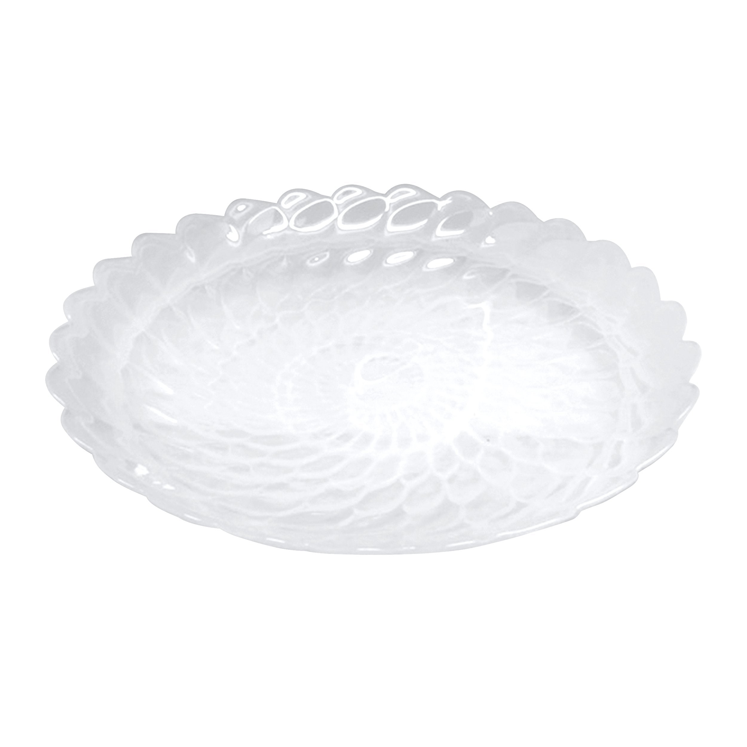 Alabaster White Large Scallop Rim Bowl