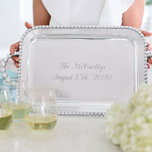 Load image into Gallery viewer, Pearled Service Tray-Serving Trays and More-|-Mariposa