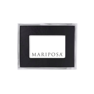 Black Leather with Metal Border 4x6 Frame | Mariposa