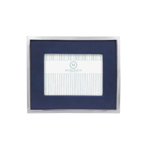 Blue Leather with Metal Border 5x7 Frame | Mariposa