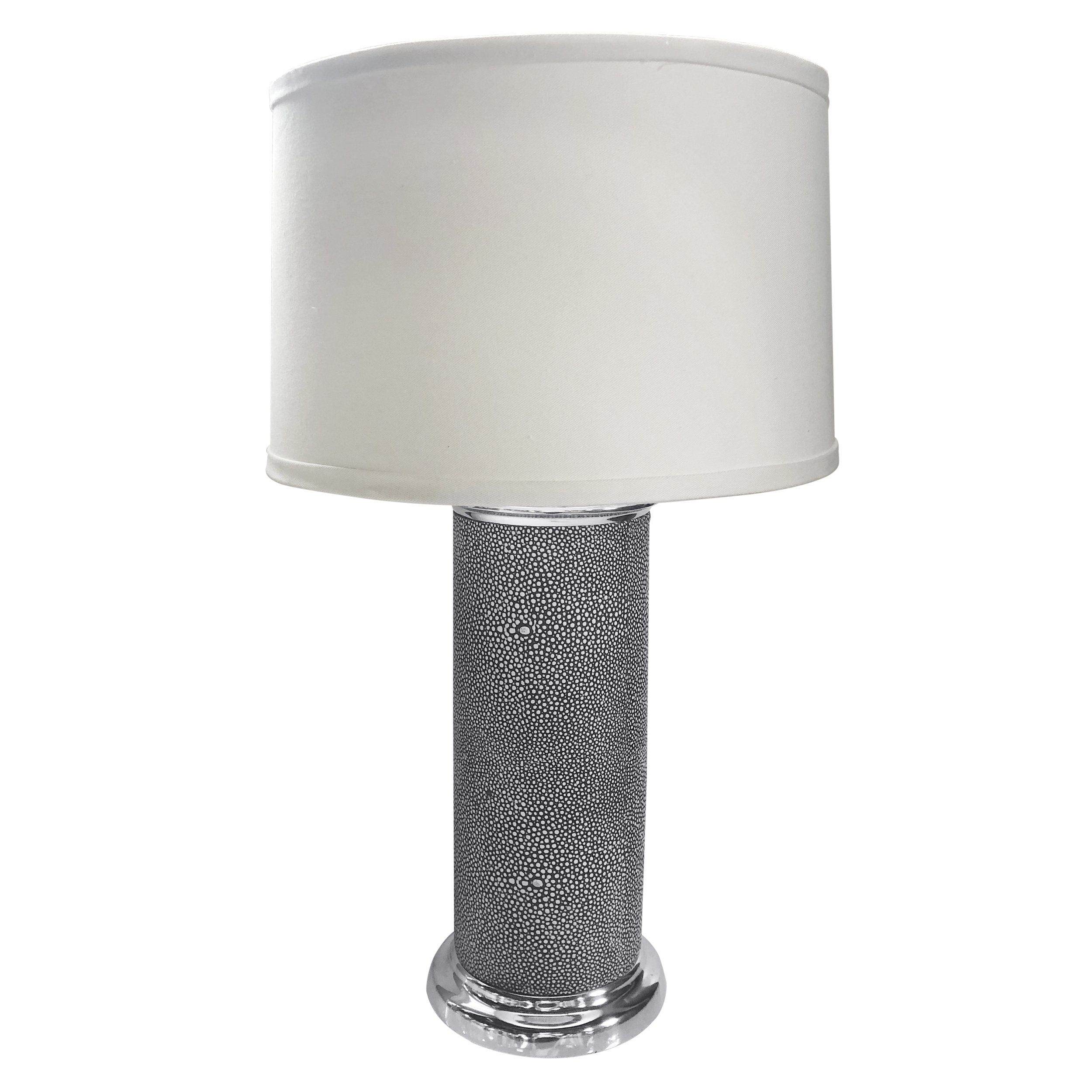 Shagreen Leather Column Table Lamp