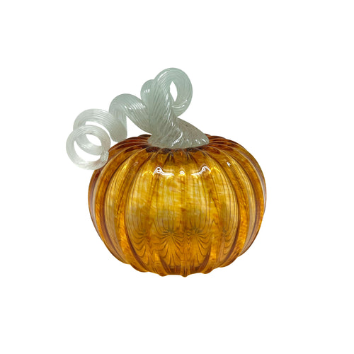 Amber Glass Small Pumpkin -Decorative Accessories | Mariposa