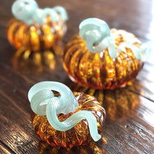 Load image into Gallery viewer, Amber Glass Medium Pumpkin -Decorative Accessories | Mariposa