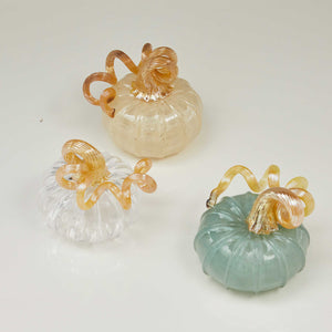 Clear Glass Medium Pumpkin -Decorative Accessories | Mariposa