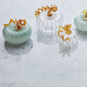 Teal Glass Large Pumpkin -Decorative Accessories | Mariposa