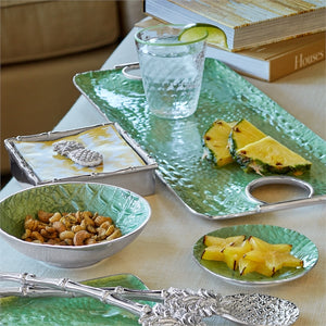 Croc Rectangular Green Handled Tray-Serving Trays and More-|-Mariposa