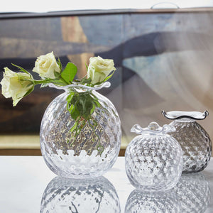 Clear Pineapple Textured Bud Vase-Vases | Mariposa