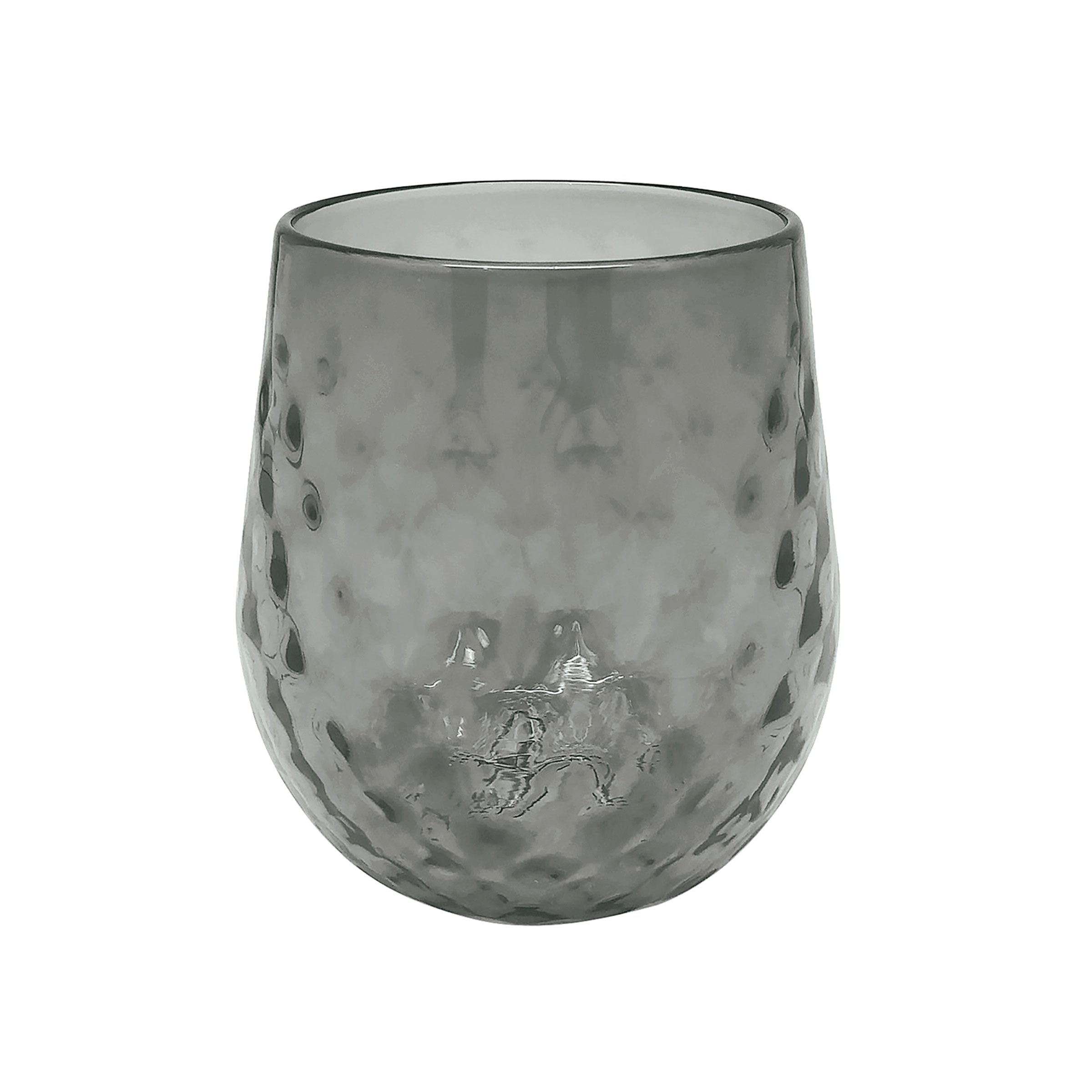 Gray Lowball Glass
