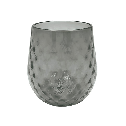 Gray Lowball Glass-Glassware | Mariposa