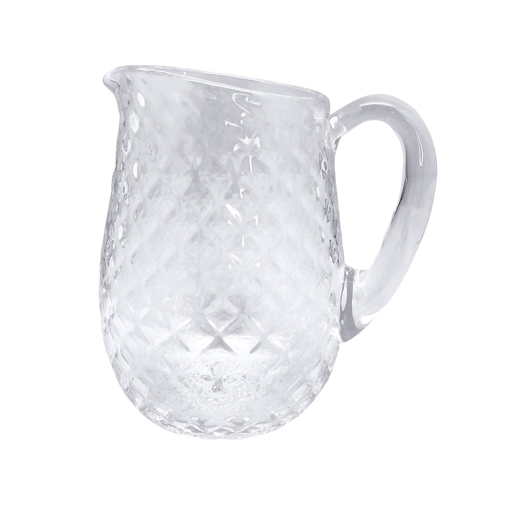 Clear Pineapple Textured Pitcher | Mariposa