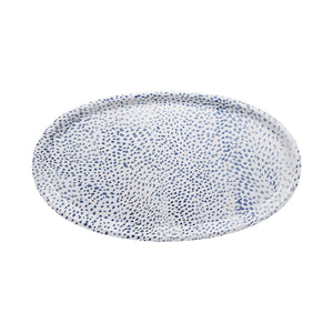 Little Dot Blue Oval Tray | Mariposa Serving Trays and More