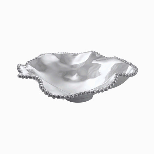 Pearled Wavy Large Serving Bowl | Mariposa Bowls