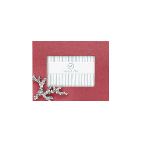 Coral Linen with Coral Icon 4x6 Frame | Mariposa