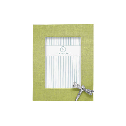 Spring Green Linen with Dragonfly Icon 5x7 Frame | Mariposa