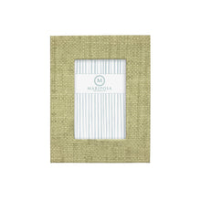 Load image into Gallery viewer, Chartreuse Faux Grasscloth 4x6 Frame | Mariposa