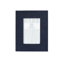 Load image into Gallery viewer, Indigo Blue Faux Grasscloth 4x6 Frame | Mariposa