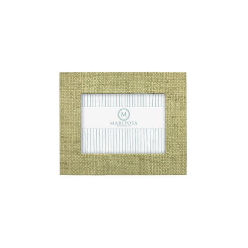 Chartreuse Faux Grasscloth 5x7 Frame | Mariposa