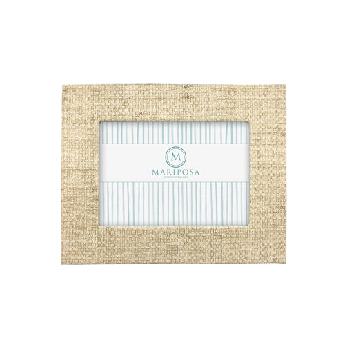 Sand Faux Grasscloth 5x7 Frame-Decorative Photo Frames | Mariposa