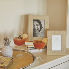 Load image into Gallery viewer, Sand Faux Grasscloth 5x7 Frame-Decorative Photo Frames | Mariposa