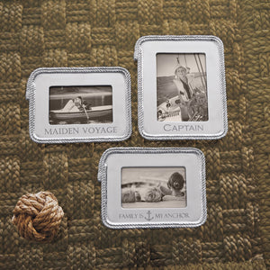 Family is my anchor Rope 4x6 Statement Frame-Plain Photo Frames | Mariposa