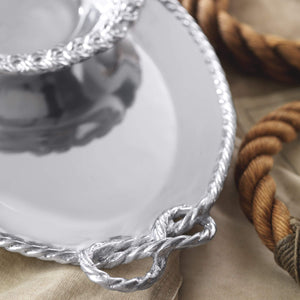 Rope Oval Serving Tray-Serving Trays and More-|-Mariposa