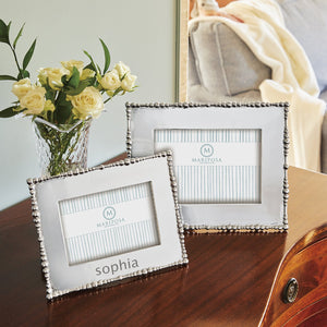 Pearl Drop 4x6 Engravable Frame-Plain Photo Frames | Mariposa
