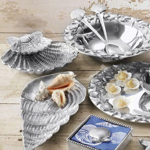 Scallop Shell 2-Piece Chip & Dip Set-Serving Trays and More-|-Mariposa
