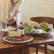 Load image into Gallery viewer, Shimmer Oval Cheese Board, Dark Wood-Serving Trays and More-|-Mariposa