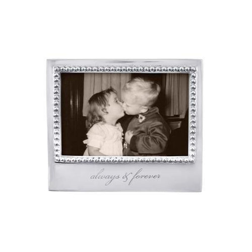 ALWAYS & FOREVER Beaded 4x6 Frame | Mariposa Photo Frames