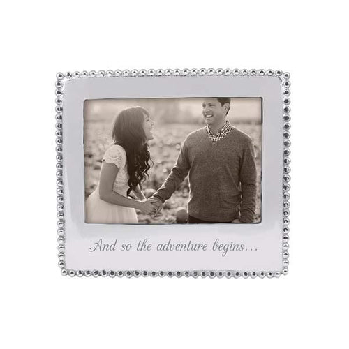 AND SO THE ADVENTURE BEGINS Beaded 5x7 Frame | Mariposa Photo Frames