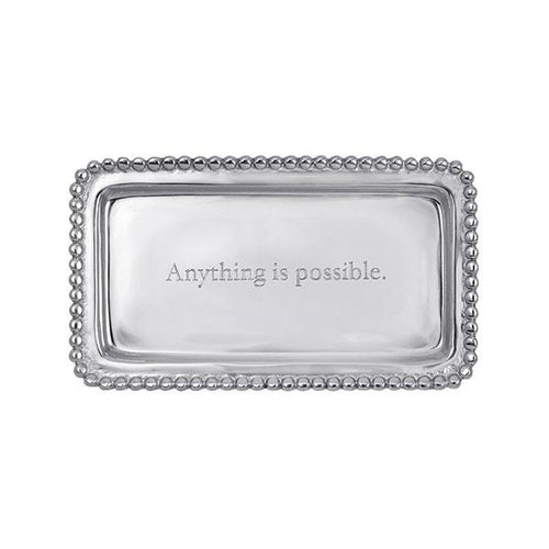 ANYTHING IS POSSIBLE Beaded Statement Tray | Mariposa Statement Trays