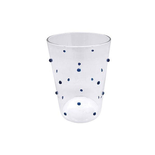 Appliqué Blue Dotty DOF Glass | Mariposa Glassware