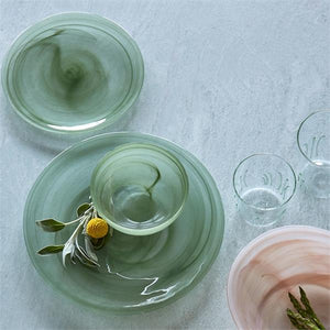 Appliqué Green Seagrass DOF Glass-Glassware-|-Mariposa