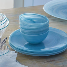 Load image into Gallery viewer, Aqua Alabaster Serving Bowl-Bowls-|-Mariposa