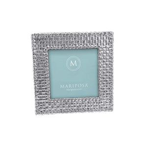 Basketweave 4x4 Frame-Photo Frames-|-Mariposa
