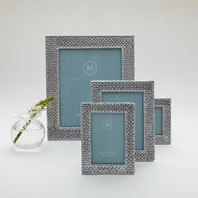 Load image into Gallery viewer, Basketweave 4x4 Frame-Photo Frames-|-Mariposa