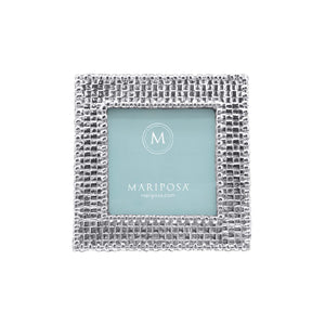 Basketweave 4x4 Frame | Mariposa Photo Frames