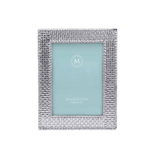 Basketweave 4x6 Frame-Photo Frames | Mariposa